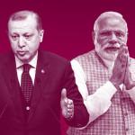 Indian Prime Minister Narendra Modi and Turkish President Recep Tayyip Erdogan