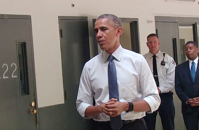 Obama was the first time prison