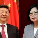 Taiwan's first female president Tsai Ing Wen and President Xi Jinping of China