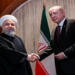 Turkish President Recep Tayyip Erdogan and Iranian President Hasan Rohani