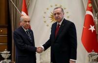 Turkish President Recep Tayyip Erdogan and National Movement Party leader Devlet Bahceli