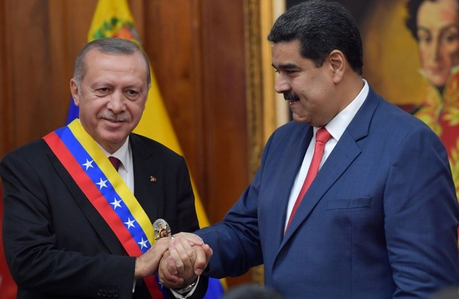 Venezuelan President Nicolas Maduro and Turkish President Recep Tayyip Erdogan