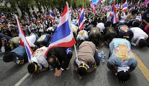Thai protesters on the streets again
