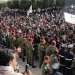 The demonstrations began in Tunisia