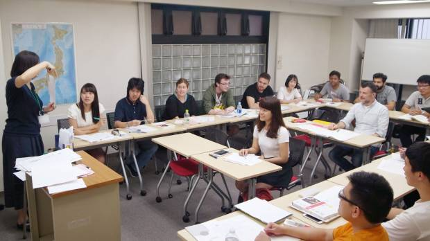 Foreign workers and students wishing to learn Japanese language