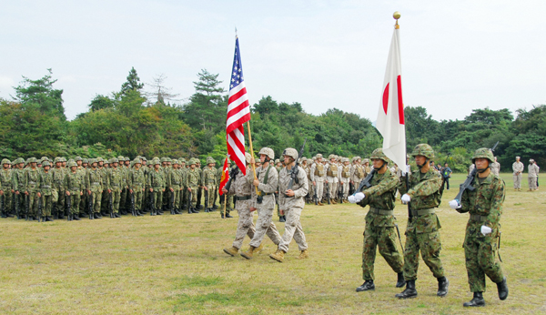 Japan's Self-Defense Forces and the U.S. military has suspended talks on cooperation