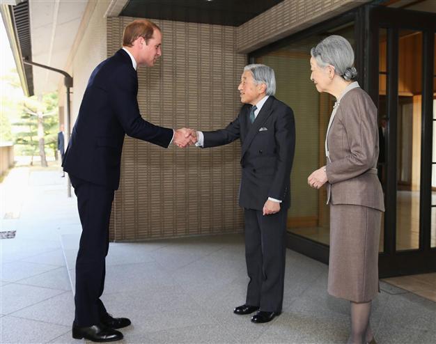 Harry met the Emperor and Empress of Japan
