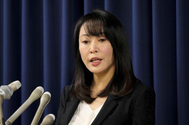 Japan's Minister of Justice Masako Mori