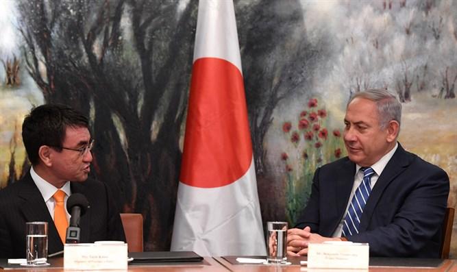 Netanyahu meets Japanese FM Taro Kono