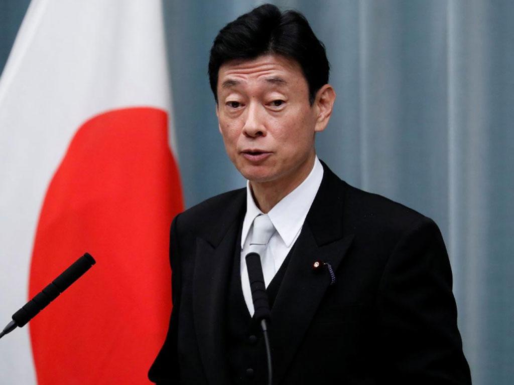 Japan's Minister of Economy Yasutoshi Nishimura