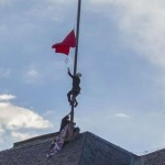 Czech Republic pranksters replace president's flag with huge underpants