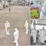 South Korea rescue workers take steps to prevent the outbreak after a new type of coronavirus is revealed