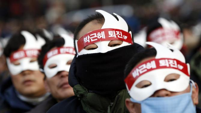 In South Korea, thousands of people took part in anti-government rally