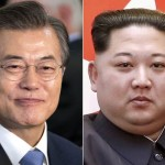 South Korean President Moon J. and North Korean leader Kim Jong In