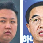 South Korean minister Cho Myoung Gyon and North Korean leader Kim Jong-Un