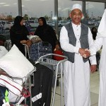 The first group of pilgrims from South Africa Abdulaziz International Airport in Jeddah reached evening.