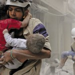 Air strikes government forces and rebels killed at least 30 people, including eight children, in Aleppo