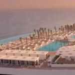 A world-first opening of the Burj Al Arab Terrace artificial island in Dubai