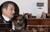 Two former Egyptian presidents Hosni Mubarak and Mohammad Morsi