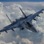 Russian Sukhoi-35 fighter jets