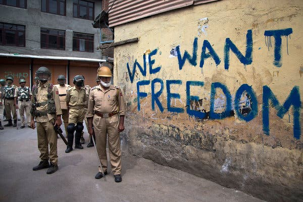 Orally speaking Pakistan stands with Kashmir but practically he is tied with India