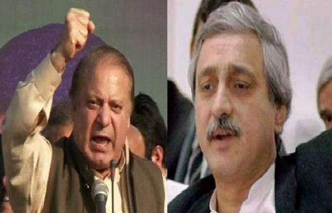 Former Prime Minister Mian Nawaz Sharif and Tehreek-e-Insaf's leader Jahangir Tareen