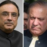 Former Prime Minister Nawaz Sharif asked former President Asif Ali Zardari to give the government a chance of defeating