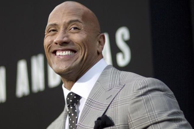 Former wrestler The Rock has been named as the world's