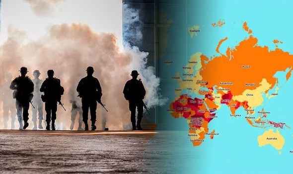 In 2020, the map of the world's most dangerous countries was released