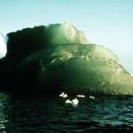 A green iceberg of Antarctica