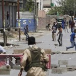 In parts of Srinagar, security forces clashed between the protests and the curfew removable again today