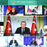 Turkish President addressing the G20 Summit in Saudi Arabia