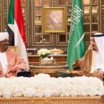 Saudi Arabia's King Hassan Salman bin Abdul Aziz and President Omar al-Bashir of Sudan