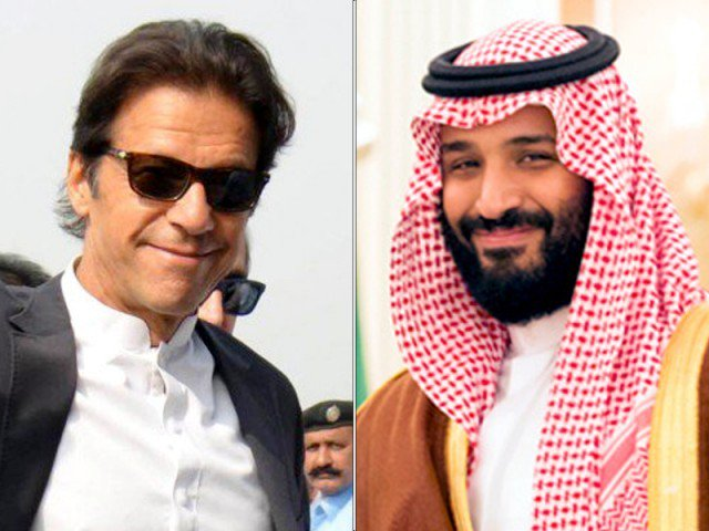 Saudi Crown Prince Mohammad bin Salman and Pakistan PM Imran Khan