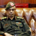 Sudanese defence minist Gen. Awad Ibn Auf