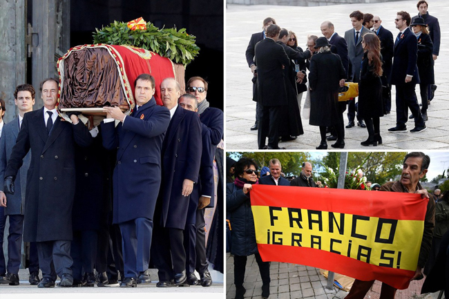 After the Supreme Court ruling, Francisco Franco's remains were removed from the public tomb and buried in a public cemetery