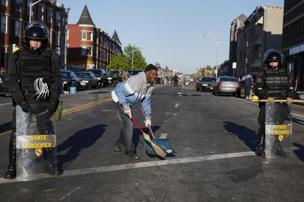 Black's death, rioting, Baltimore Emergency