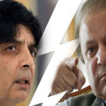 Senior politician Chaudhry Nisar Ali Khan and former Prime Minister Nawaz Sharif