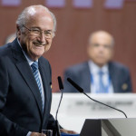 FIFA president Sepp Blatter was elected for the fifth consecutive time