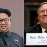 CIA head Mike Pompeo and North Korean leader Kim Jong-un