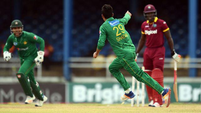 Shadab Khan took 4 wickets giving 14 runs.
