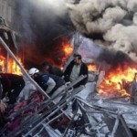 Barbarous Russian bombing in Syria on the market, 60 killed