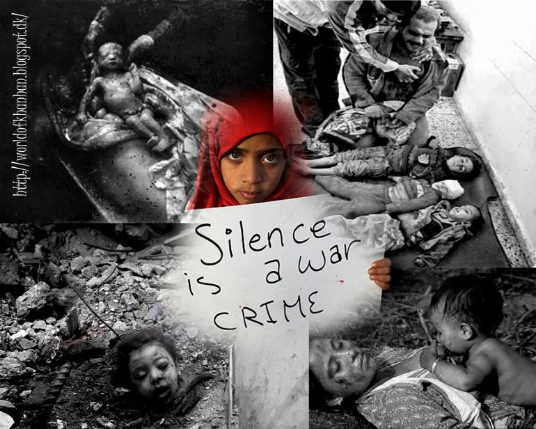 Why is silence on the war of Syria?