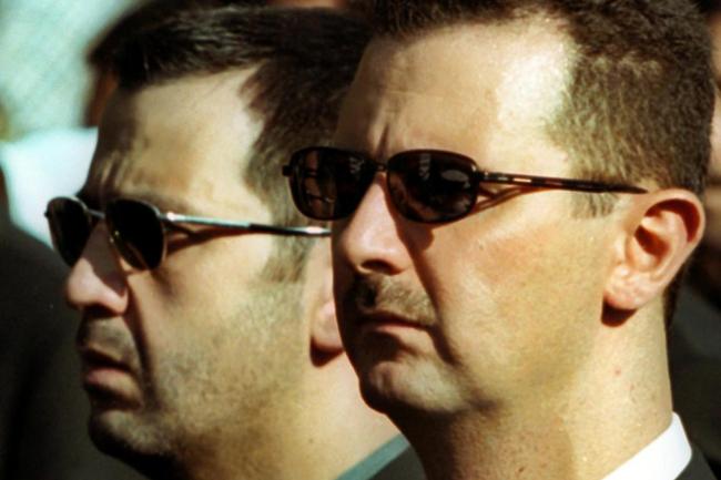 Syrian President Bashar al-Assad and his brother Maher al-Assad