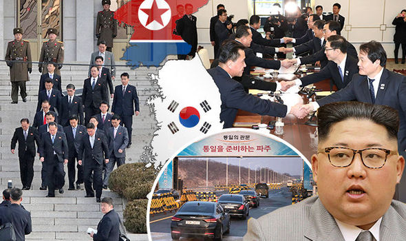 North and South Korea agreed that the tension on the border would be reduced