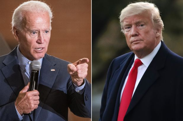 Presidential election includes current President Donald Trump and former Vice President Joe Biden