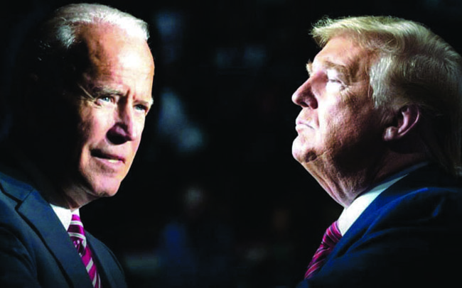 Presidential candidate Donald Trump and Democratic candidate Joe Biden