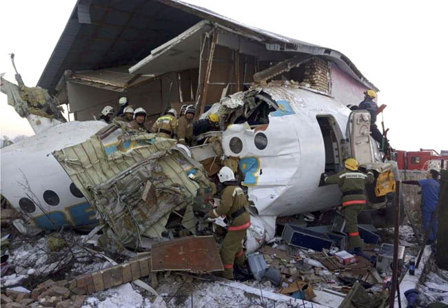 Bek Air crashed near Almaty Airport in Kazakhstan this morning