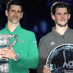 World number two and Serbian tennis star Novak Djokovic and Austria's Dominic Thiem