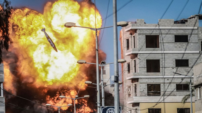 Gaza bombed on the 8th day, 24 more martyrs, and 48,000 homeless